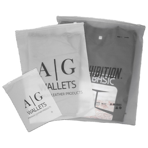 Frosted translucence custom printed clothing packaging clear pvc zipper bag plastic