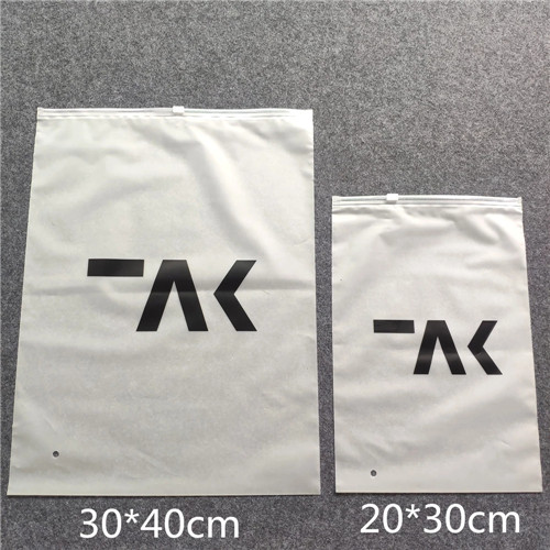 China Products PE CPE Plastic Slider frosted Zipper Bag For Cloth Packing