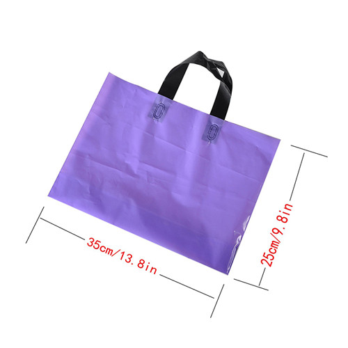 Factory Custom Print Wholesale Good Quality Reusable Plastic Soft Loop Handle Bags