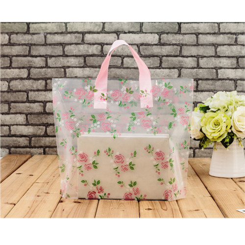 Clothing Packaging Soft Loop Handle Plastic Shopping Bag With Custom Logo