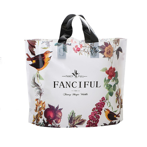 Cheap Price Custom biodegradable Clear Transparent tote Plastic shopping Bag Soft Loop bag
