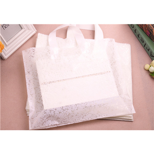 Eco-friendly disposable degradable Soft loop flexiloop handle plastic shopping bag