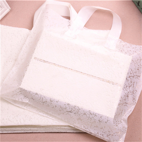 Custom durable biodegradable soft loop tote plastic shopping garment bag