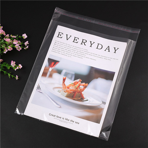 Wholesale Price Custom Self-Adhesive Transparent Pe Opp Plastic Clothes Packaging Clear Bag