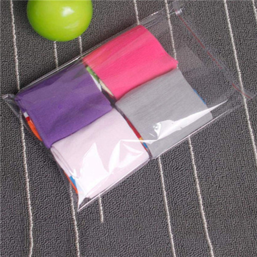 Transparent Plastic Packing Bag Double Layer Opp Adhesive Sticker Self-Adhesion Ornament Bags Convenient