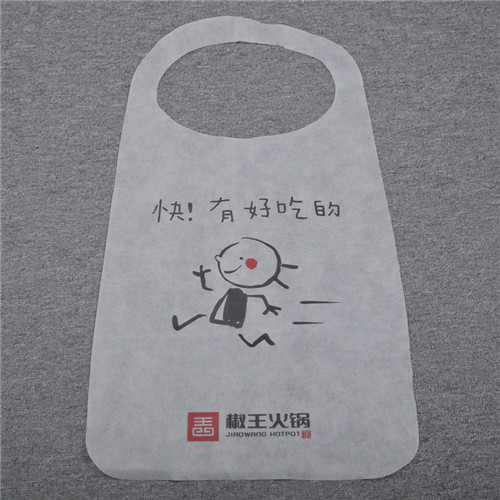 Custom Waterproof Oilproof Restaurant Bbq Seafood Lobster Plastic Non Woven Bibs Disposable Apron