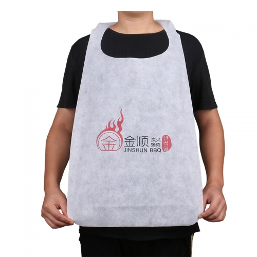 Manufacturer Custom Lobster Disposable Paper PE Nonwoven Restaurant Apron Bib