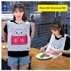 Custom Papillon Lobster Print Non Woven Disposable Adult Restaurant Bib