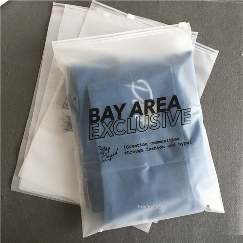 Hot Selling Eco Friendly Zipper Resealable Clothes Packaging Frosted Plastic Ziplock Bag
