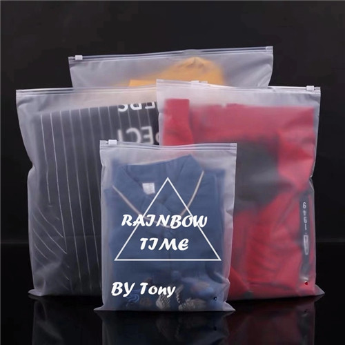 Factory Custom Child Proof Frosted PE Slider Zipper Poly Bag Plastic T Shirt Zipper Lock Clothing Packaging Bags