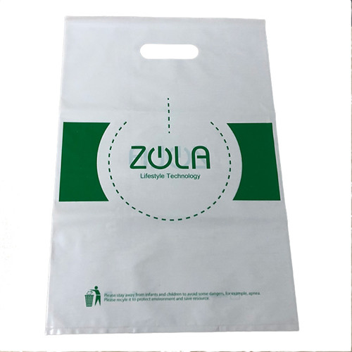Custom Printing Designs Hdpe Plastic Shopping Bag Plastic Die Cut Handle Carry Bag For Clothing