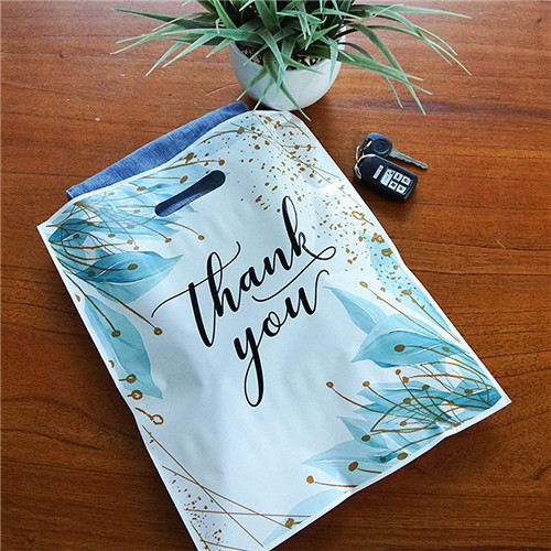 Wholesale Color Printed OEM Thank You Die Cut Handle Plastic Shopping Carrier Bag For Grocery